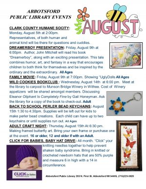 August 2019 Programs